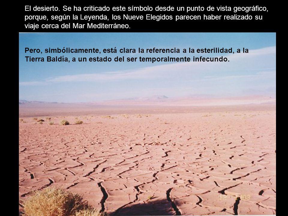 El desierto. Se ha criticado este símbolo desde un punto de vista geográfico,