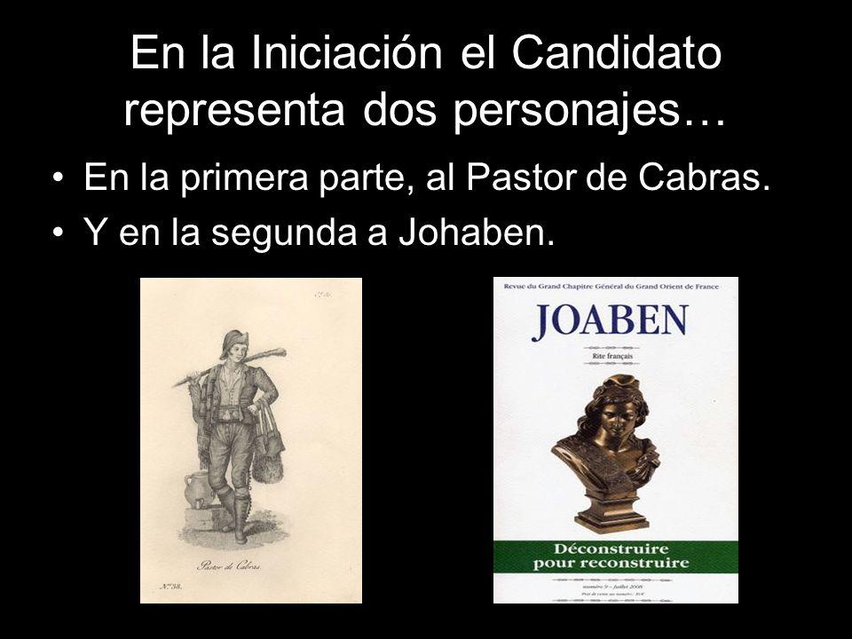 En la Iniciación el Candidato representa dos personajes…