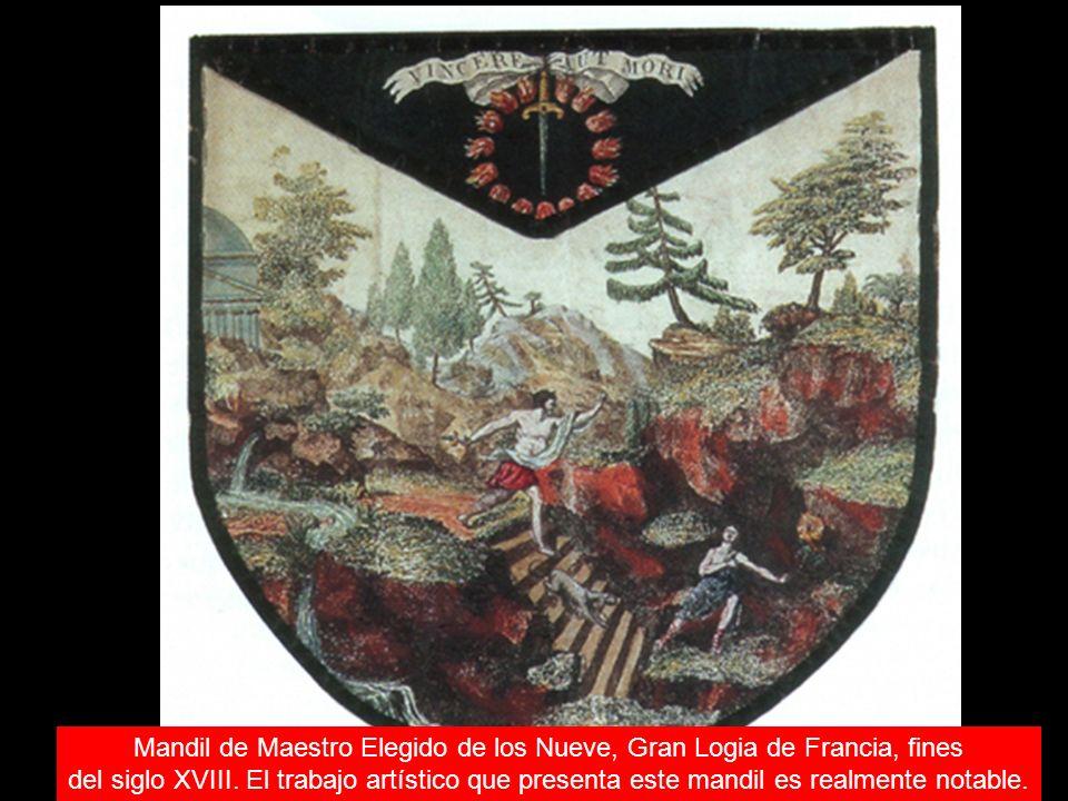 Mandil de Maestro Elegido de los Nueve, Gran Logia de Francia, fines