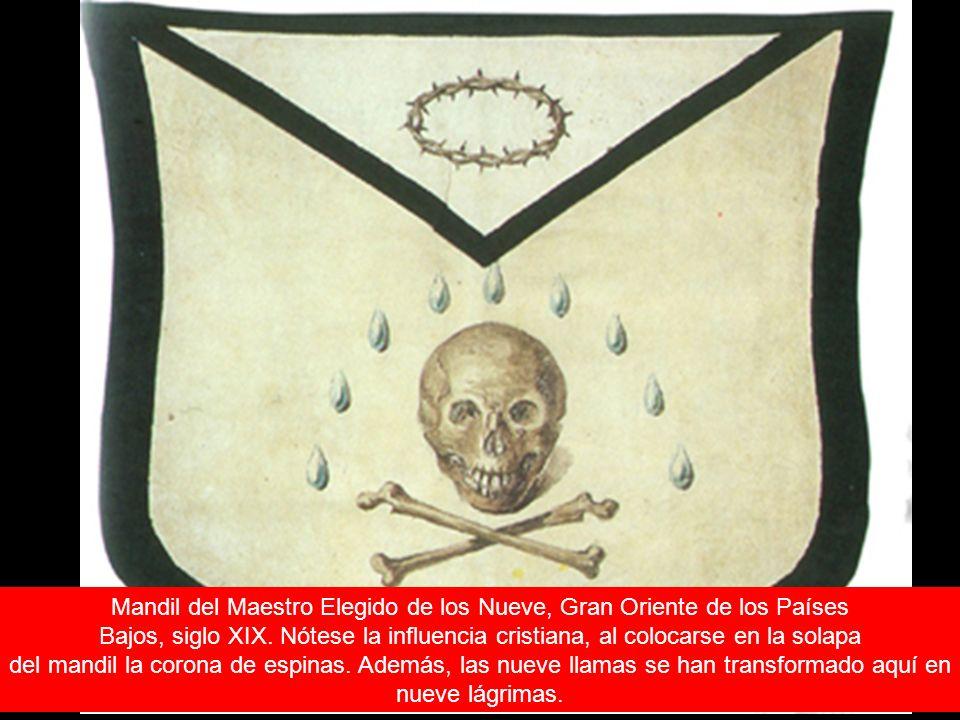 Mandil del Maestro Elegido de los Nueve, Gran Oriente de los Países