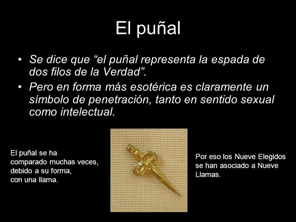 El puñal Se dice que el puñal representa la espada de dos filos de la Verdad .