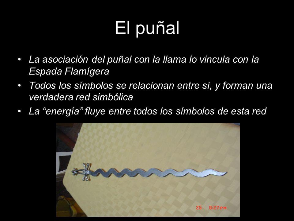El puñal La asociación del puñal con la llama lo vincula con la Espada Flamígera.