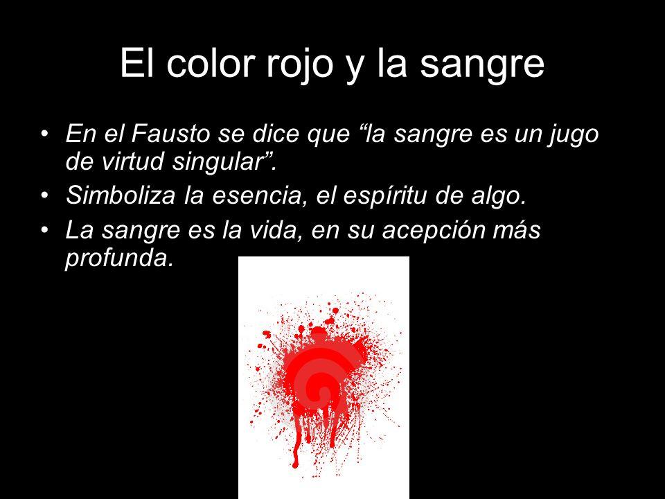 El color rojo y la sangre