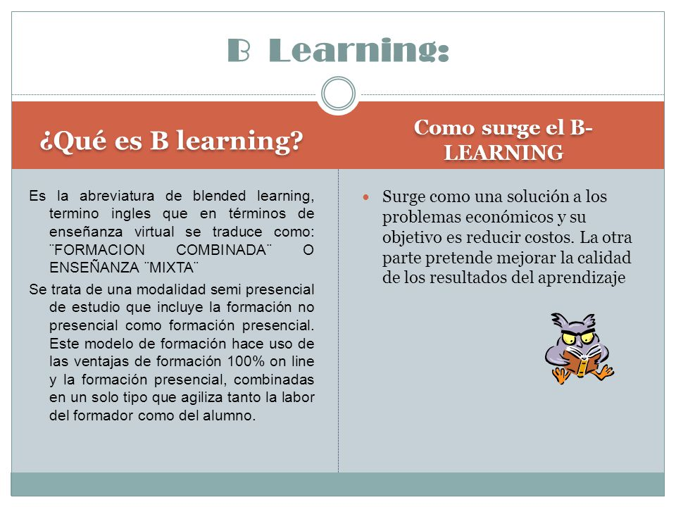 Como surge el B- LEARNING
