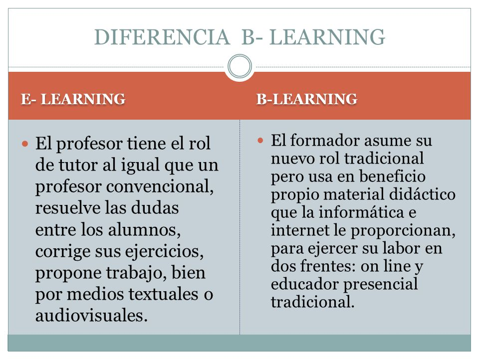 DIFERENCIA B- LEARNING