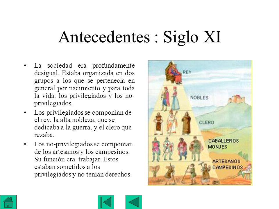 Antecedentes : Siglo XI