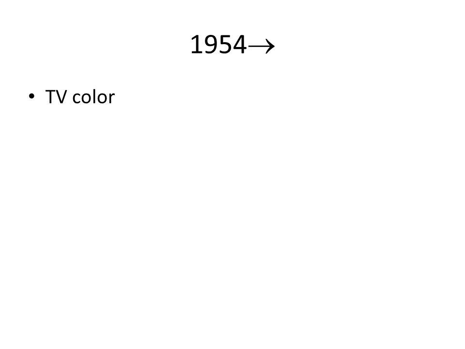 1954 TV color