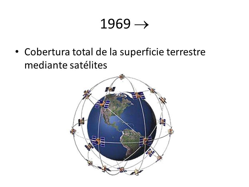 1969  Cobertura total de la superficie terrestre mediante satélites