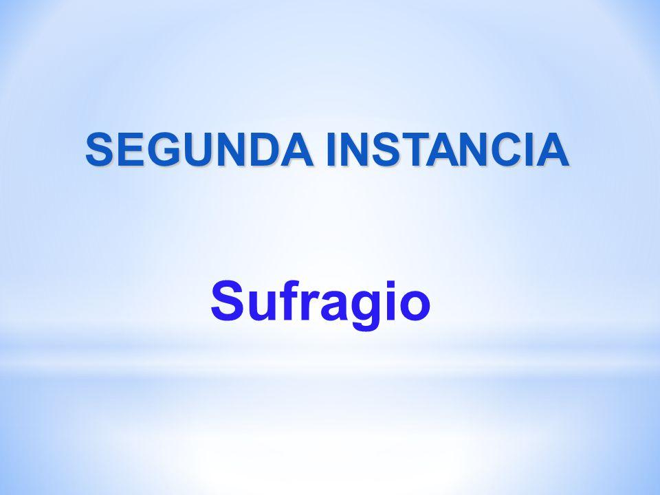 SEGUNDA INSTANCIA Sufragio