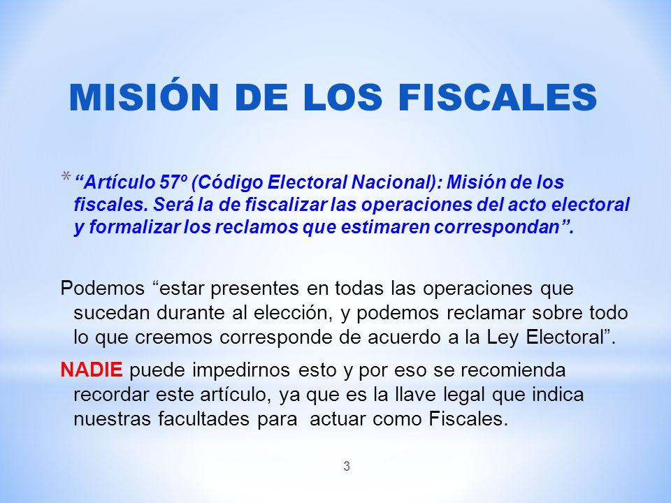 MISIÓN DE LOS FISCALES