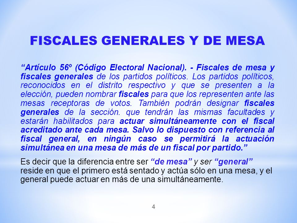 FISCALES GENERALES Y DE MESA