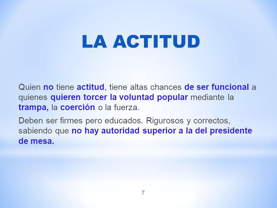LA ACTITUD