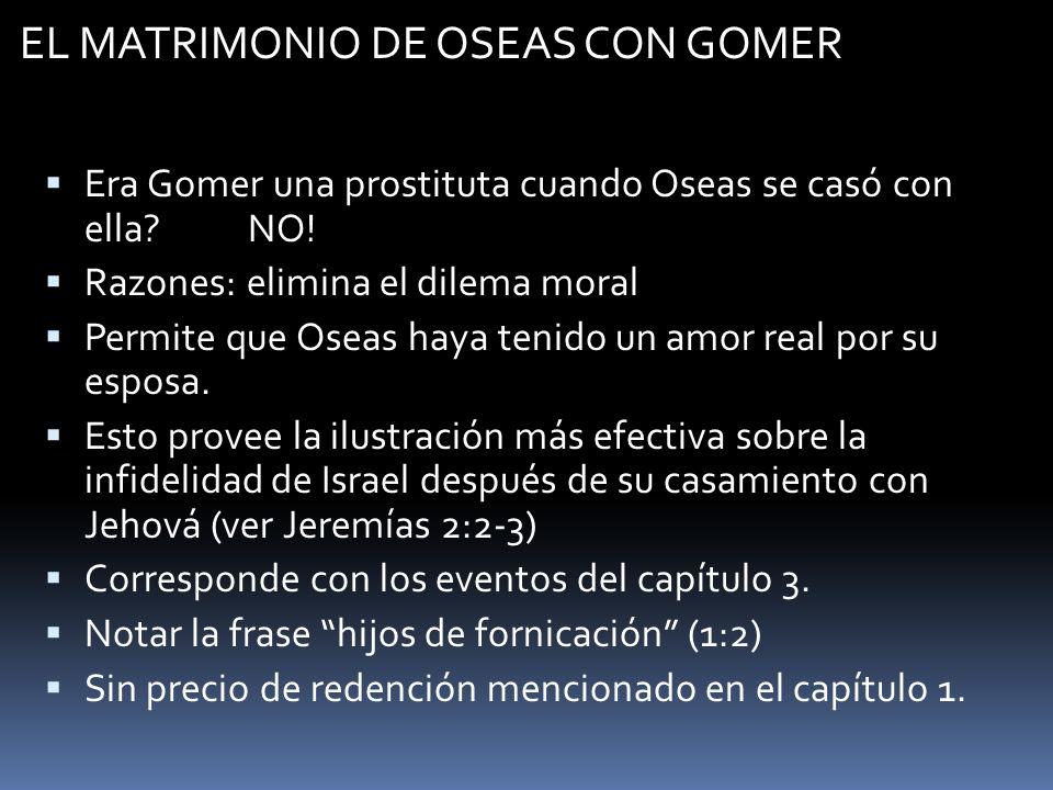 EL MATRIMONIO DE OSEAS CON GOMER