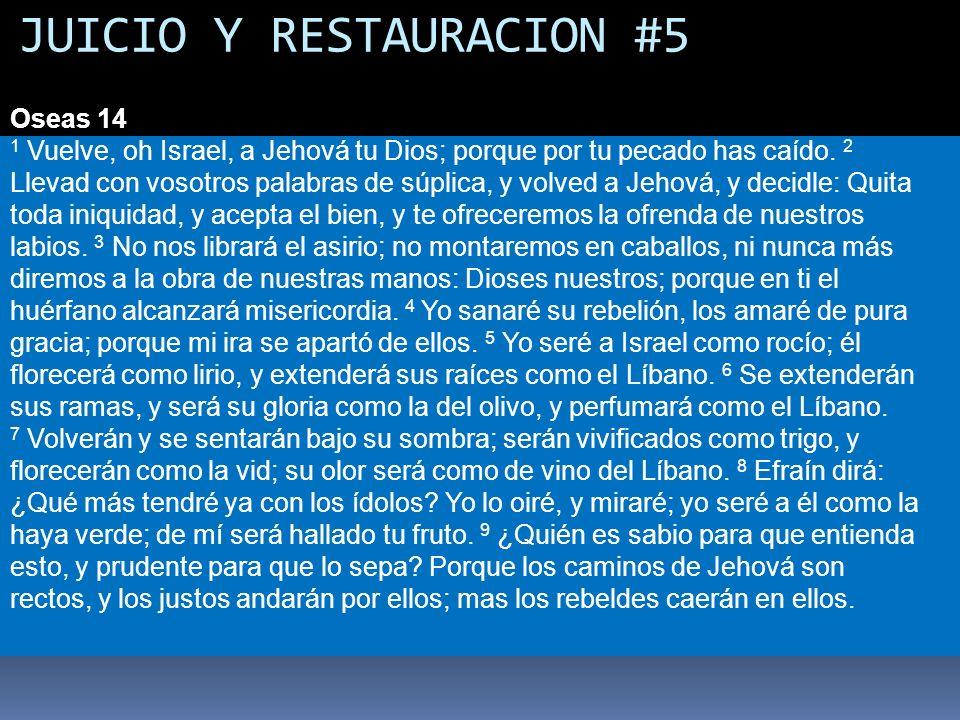 JUICIO Y RESTAURACION #5