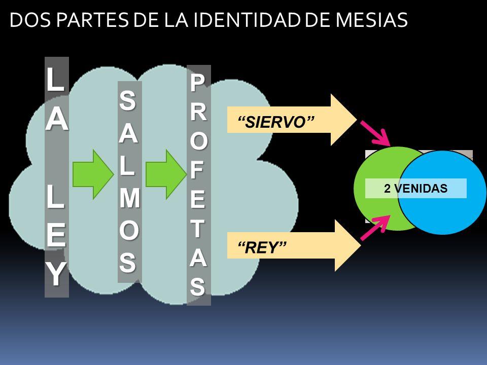 LA LEY SALMOS PROFETAS DOS PARTES DE LA IDENTIDAD DE MESIAS SIERVO