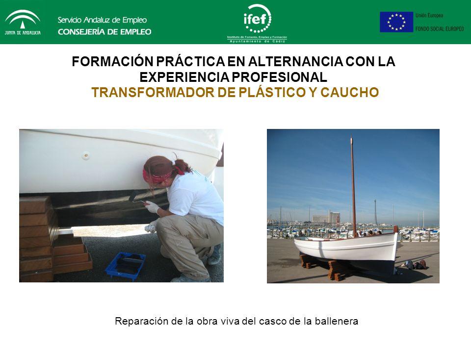Reparación de la obra viva del casco de la ballenera