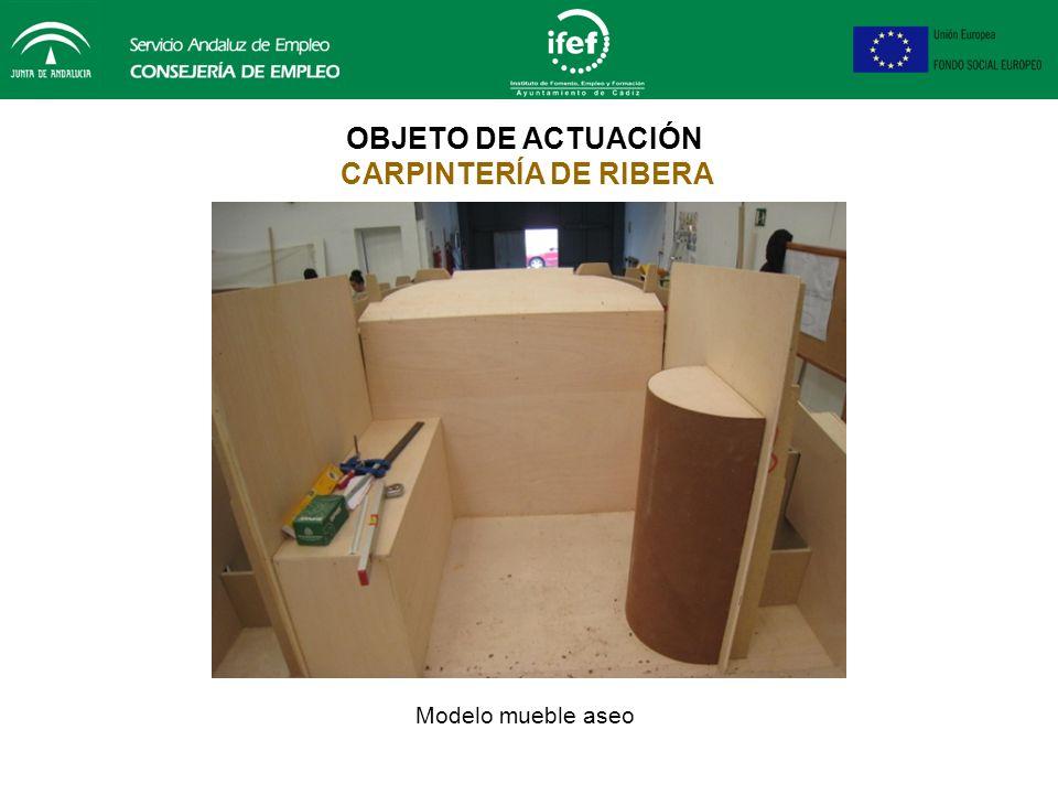 OBJETO DE ACTUACIÓN CARPINTERÍA DE RIBERA