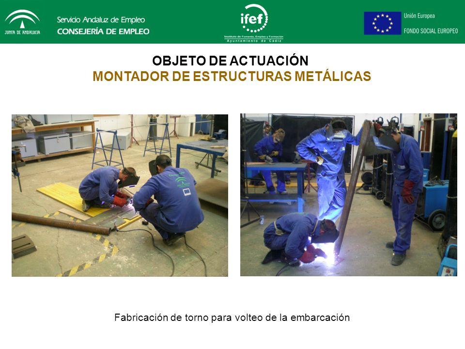 OBJETO DE ACTUACIÓN MONTADOR DE ESTRUCTURAS METÁLICAS