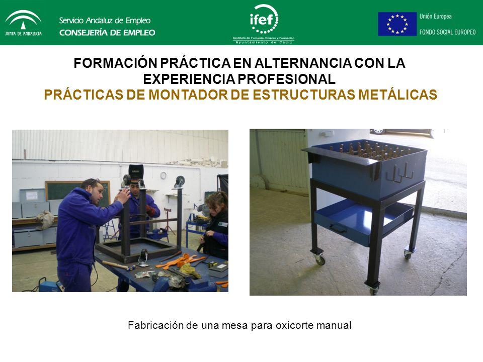 Fabricación de una mesa para oxicorte manual