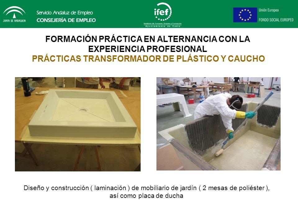 FORMACIÓN PRÁCTICA EN ALTERNANCIA CON LA EXPERIENCIA PROFESIONAL PRÁCTICAS TRANSFORMADOR DE PLÁSTICO Y CAUCHO