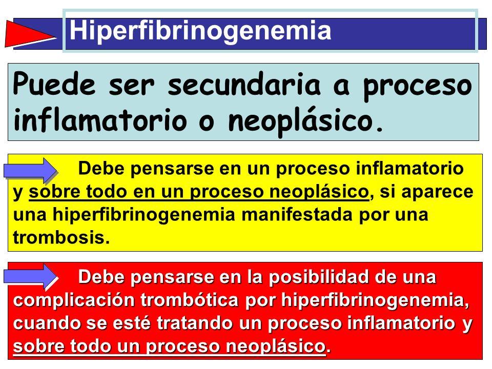 Puede ser secundaria a proceso inflamatorio o neoplásico.