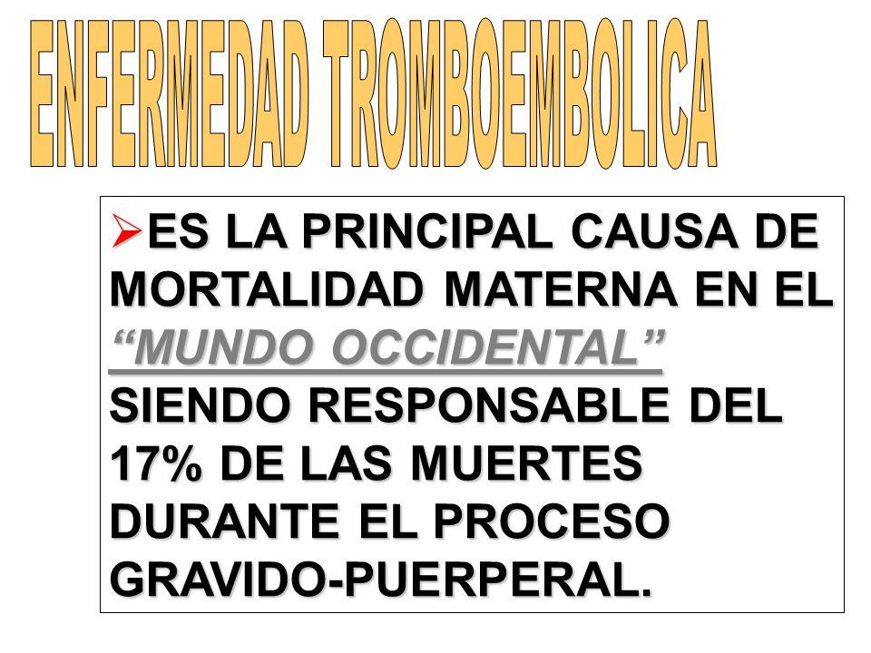 ENFERMEDAD TROMBOEMBOLICA