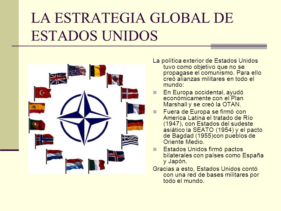 LA ESTRATEGIA GLOBAL DE ESTADOS UNIDOS