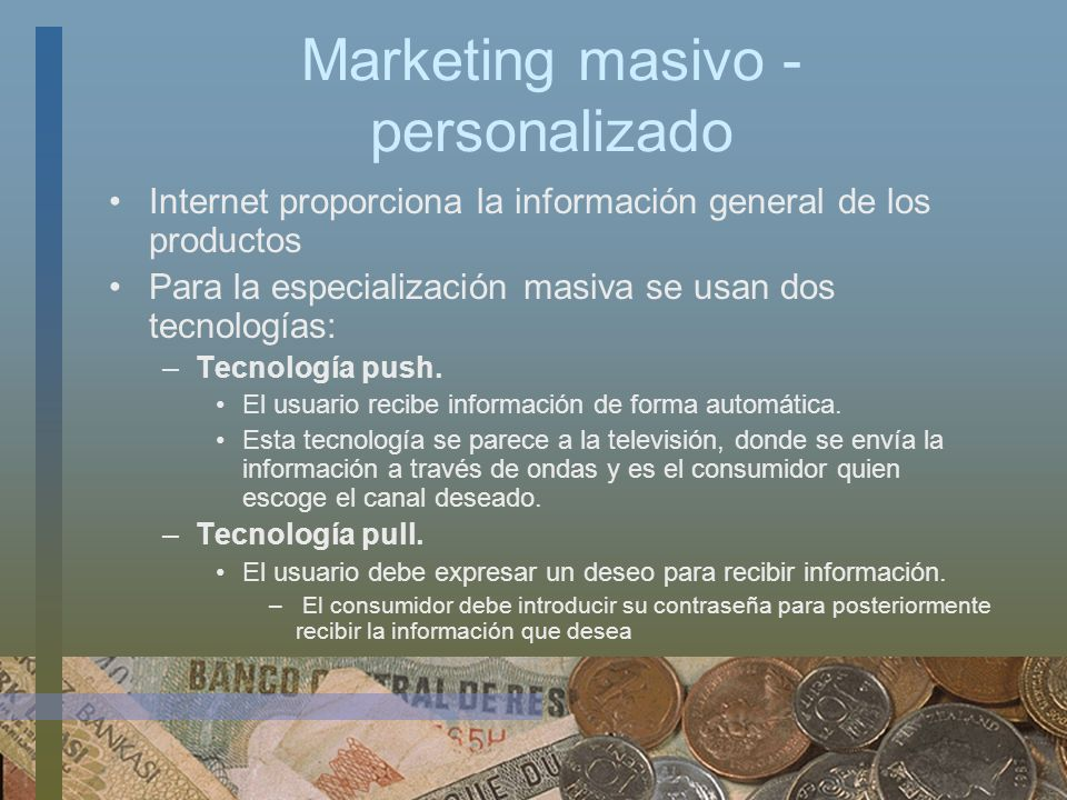 Marketing masivo - personalizado