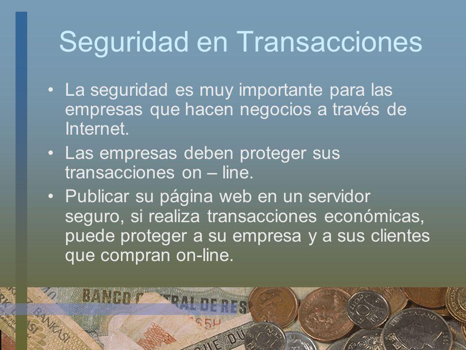Seguridad en Transacciones