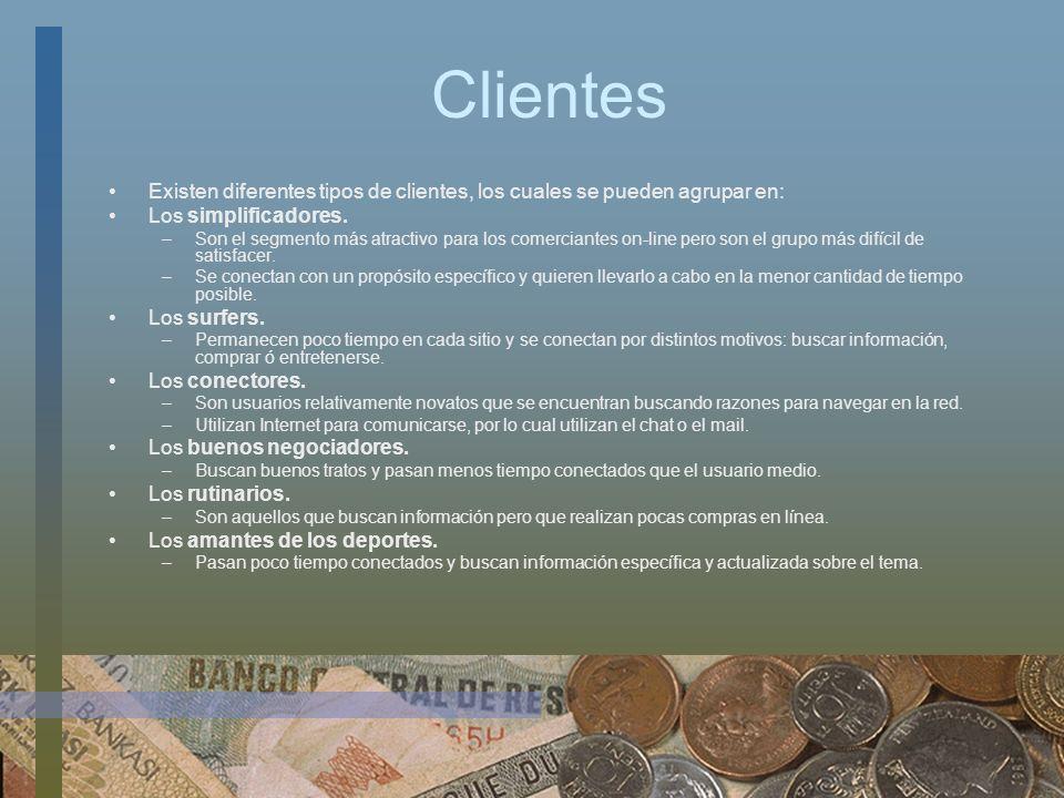 ClientesExisten diferentes tipos de clientes, los cuales se pueden agrupar en: Los simplificadores.