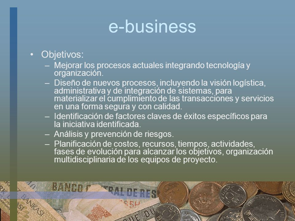 e-business Objetivos: