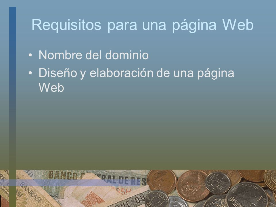 Requisitos para una página Web