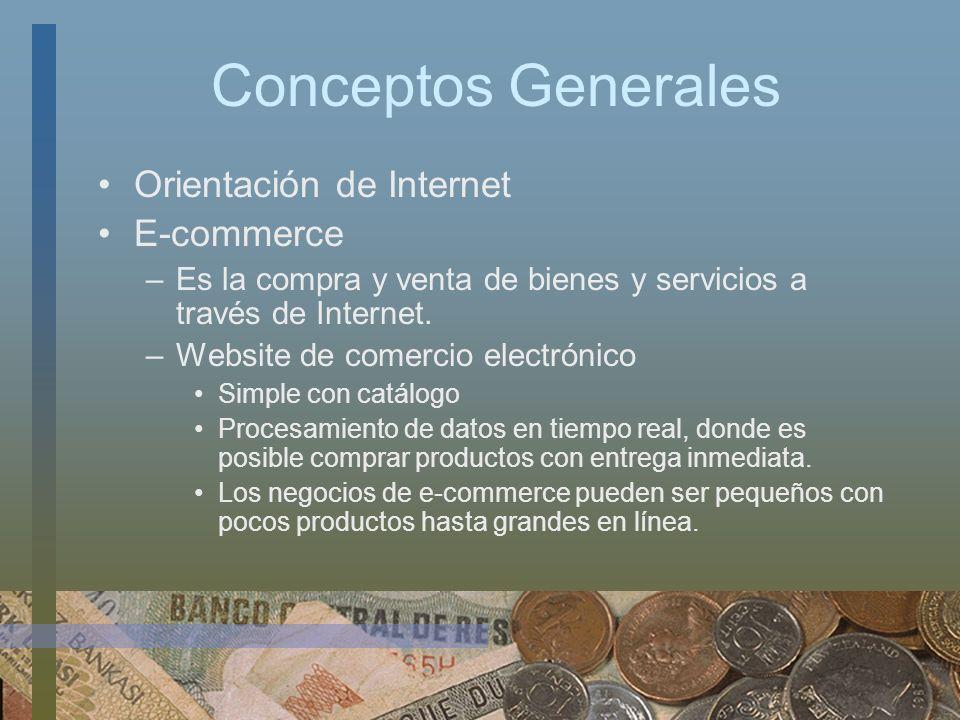 Conceptos Generales Orientación de Internet E-commerce