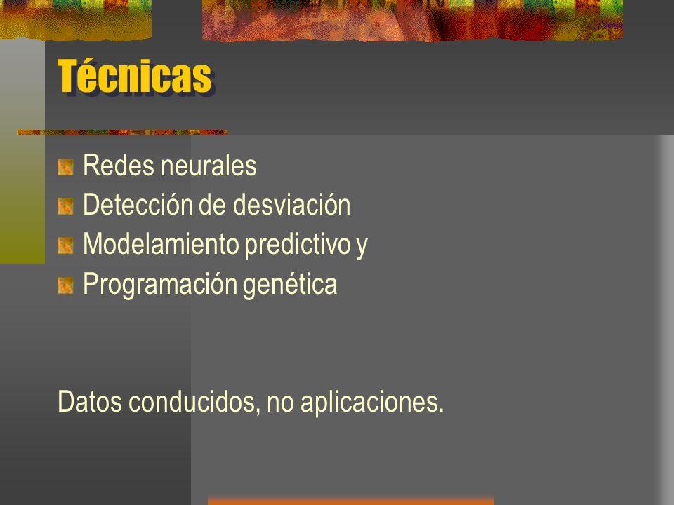 Técnicas Redes neurales Detección de desviación