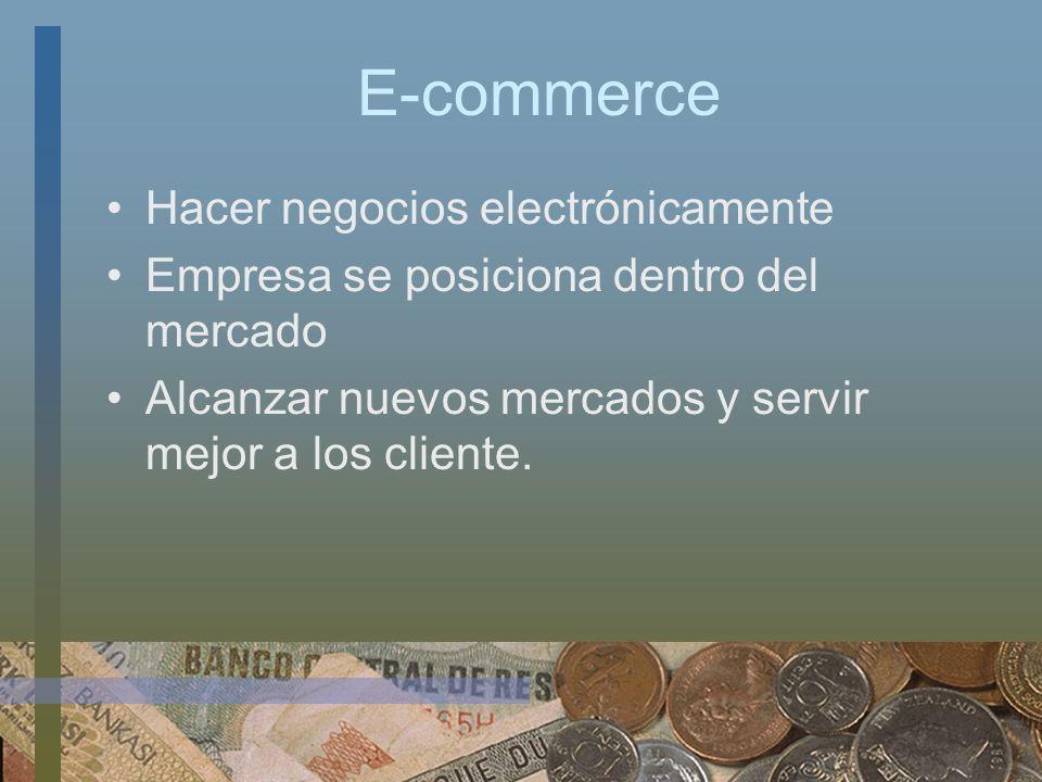 E-commerce Hacer negocios electrónicamente