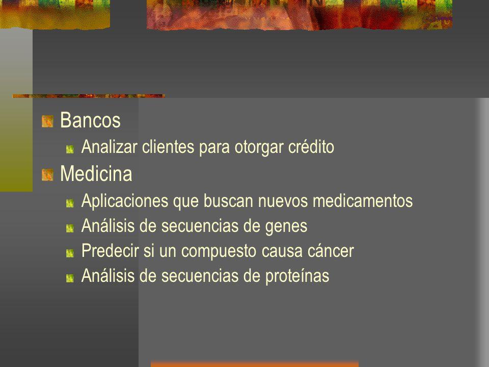 Bancos Medicina Analizar clientes para otorgar crédito
