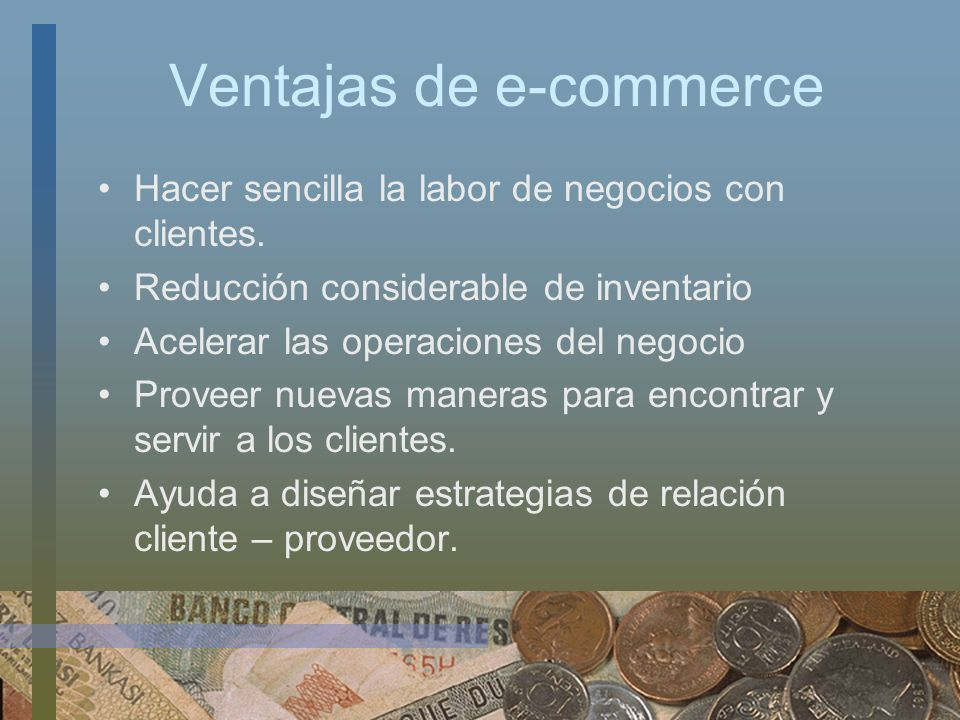 Ventajas de e-commerce