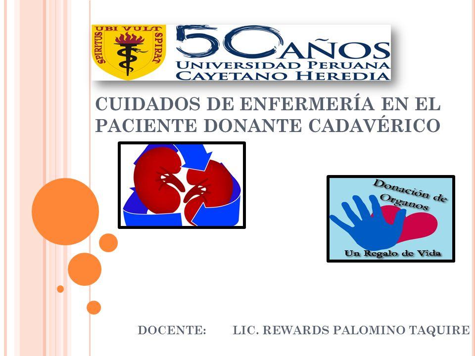 CUIDADOS DE ENFERMERÍA EN EL PACIENTE DONANTE CADAVÉRICO
