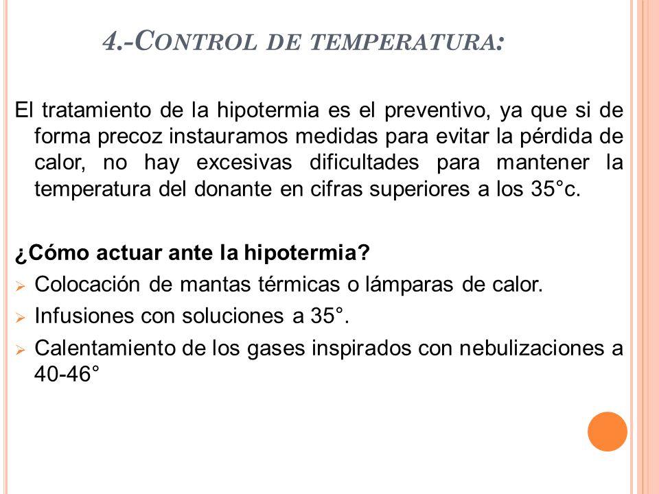 4.-Control de temperatura: