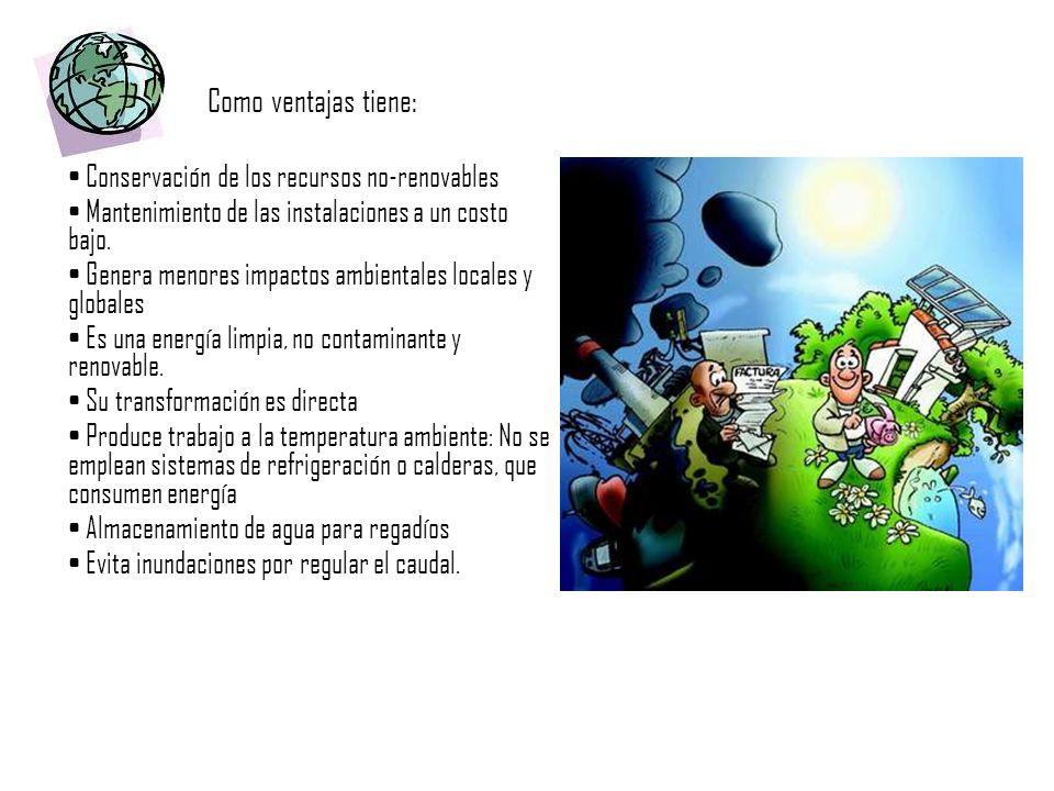 Como ventajas tiene: • Conservación de los recursos no-renovables