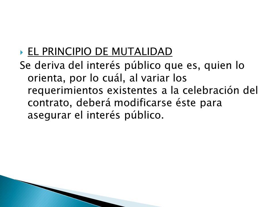 EL PRINCIPIO DE MUTALIDAD