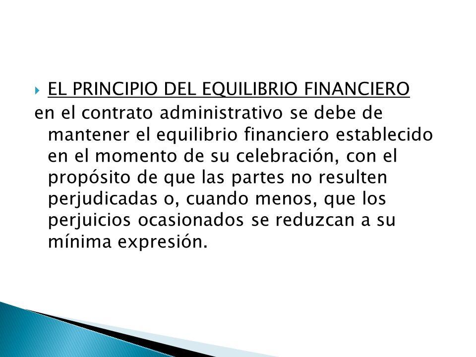 EL PRINCIPIO DEL EQUILIBRIO FINANCIERO
