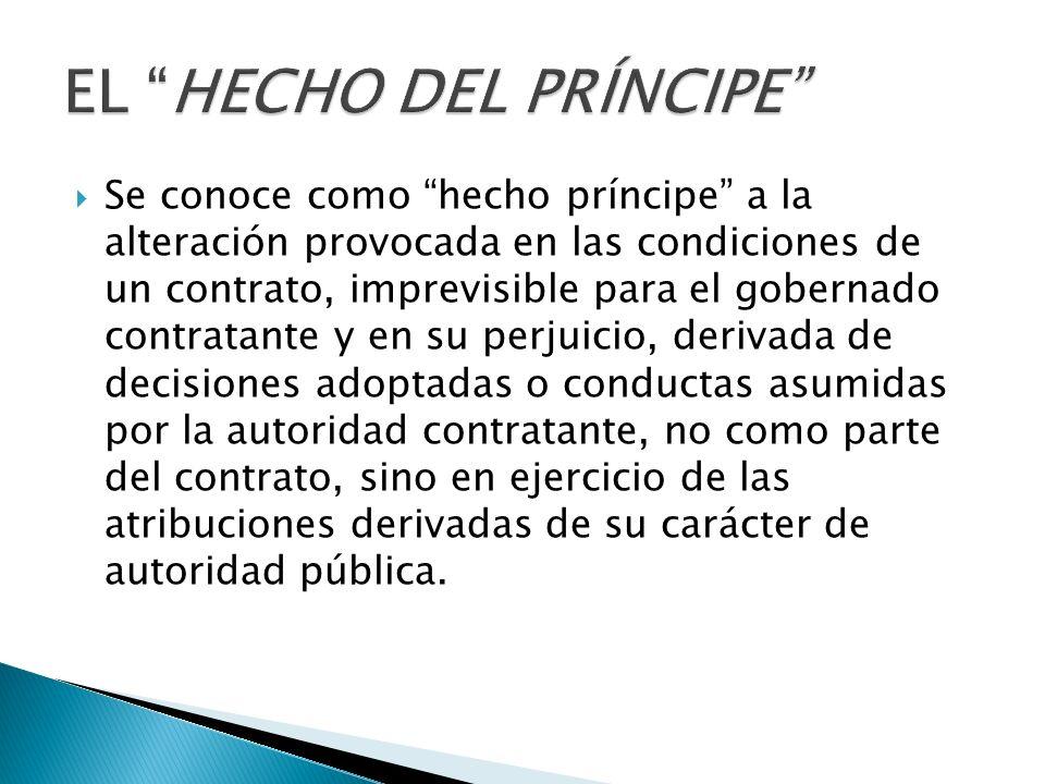 EL HECHO DEL PRÍNCIPE