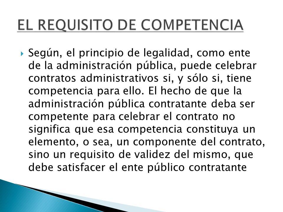 EL REQUISITO DE COMPETENCIA