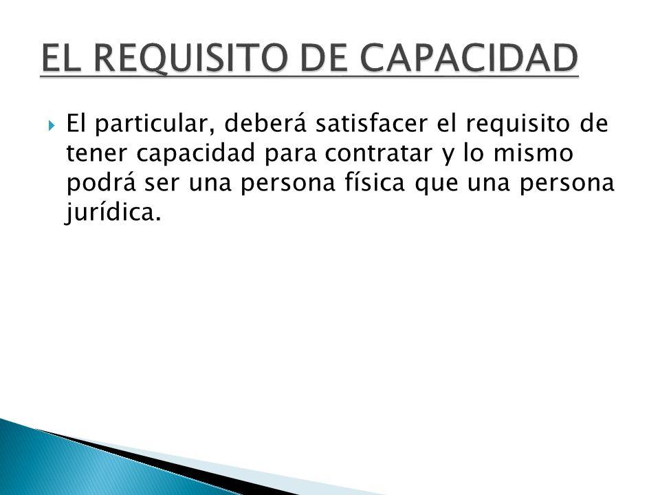 EL REQUISITO DE CAPACIDAD
