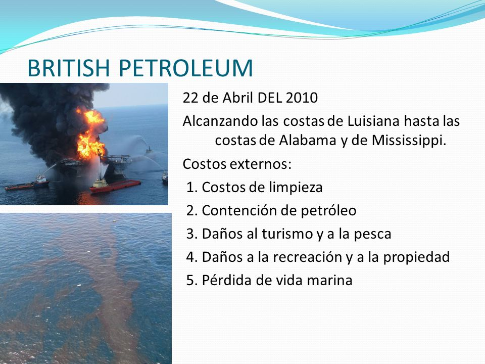 BRITISH PETROLEUM 22 de Abril DEL 2010