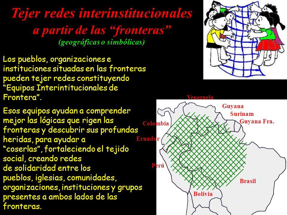 Tejer redes interinstitucionales a partir de las fronteras