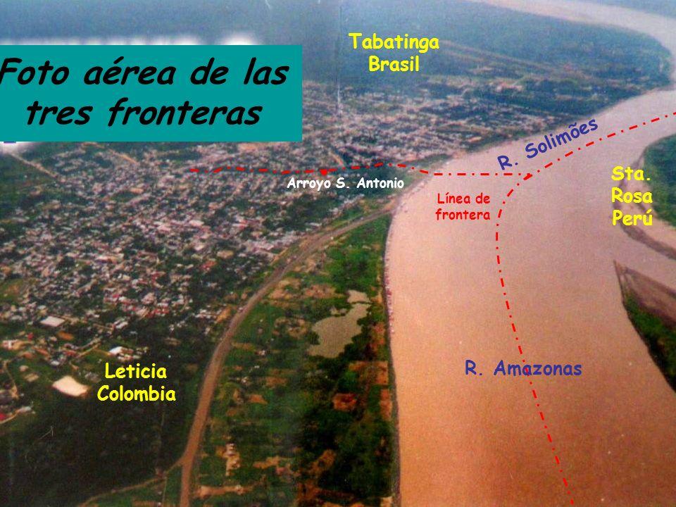Foto aérea de las tres fronteras