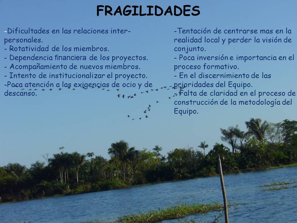 FRAGILIDADES -Dificultades en las relaciones inter-personales.