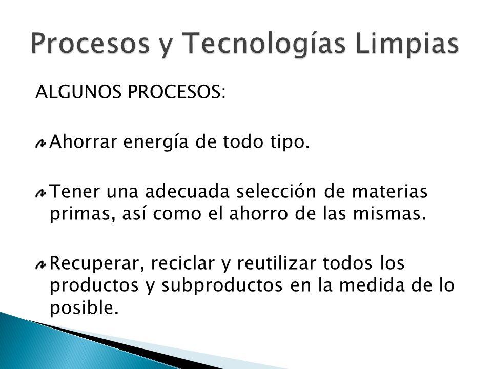 Procesos y Tecnologías Limpias